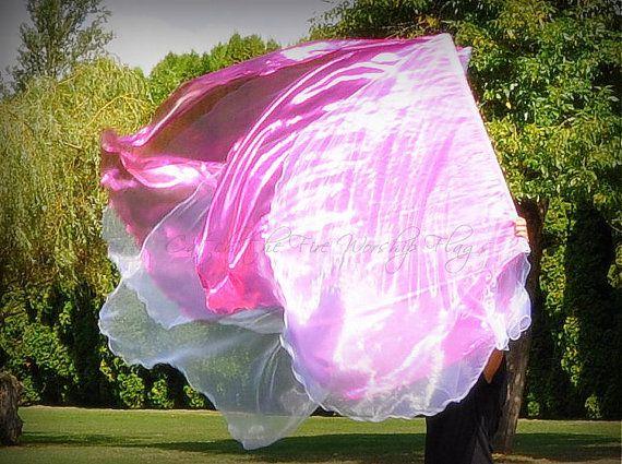 GARMENT OF PRAISE, Isaiah 61:3 (triple layer) angel wings Worship Flags