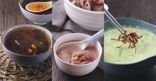 【黃豆海帶湯】、【清心蓮藕湯】及【毛豆絲瓜湯】製作食譜!(圖文教程)