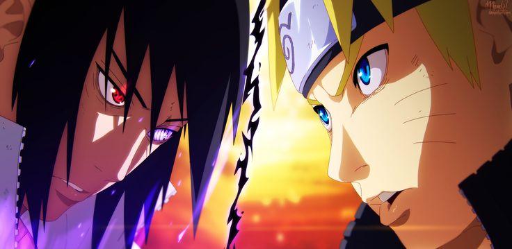 Naruto Vs. Sasuke by iMarx67