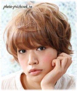 Молодежные прически с челкой для коротких волос
