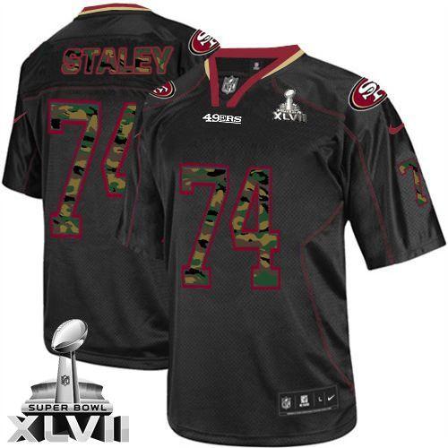 Joe Staley Elite Jersey-80%OFF Nike Super Bowl XLVII Joe Staley Elite Jersey at 49ers Shop. (Elite Nike Men's Joe Staley Black Super Bowl XLVII Jersey) San Francisco 49ers #74 NFL Camo Fashion Easy Returns.