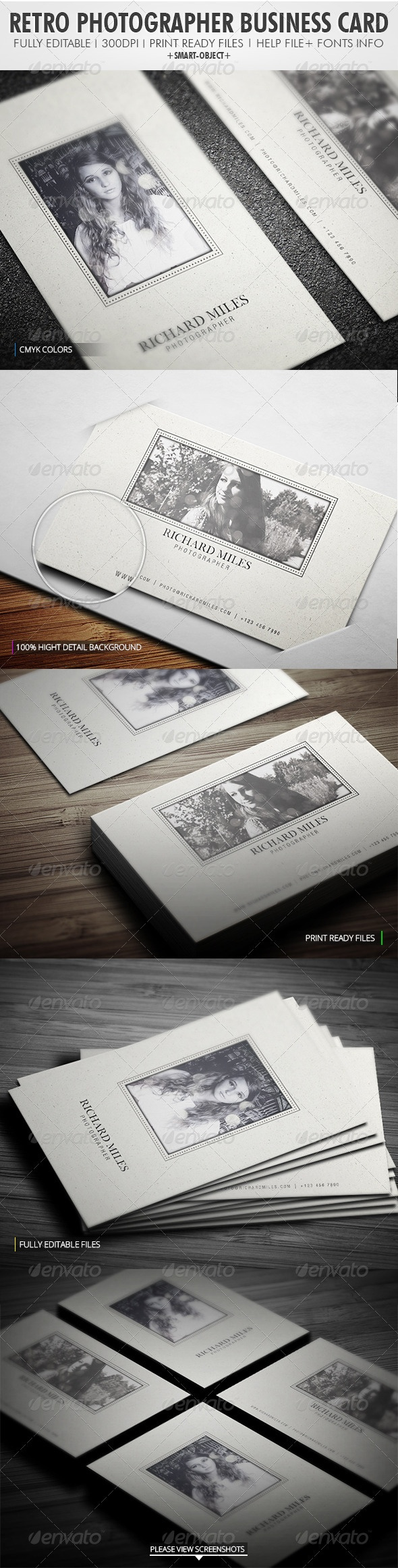 Retro Photographer Business Card http://graphicriver.net/item/retro-photographer-business-card/4036370?WT.ac=portfolio_1=portfolio_author=Realstar