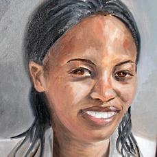 The portrait of a woman is size 30cm x 40cm. Price: 900