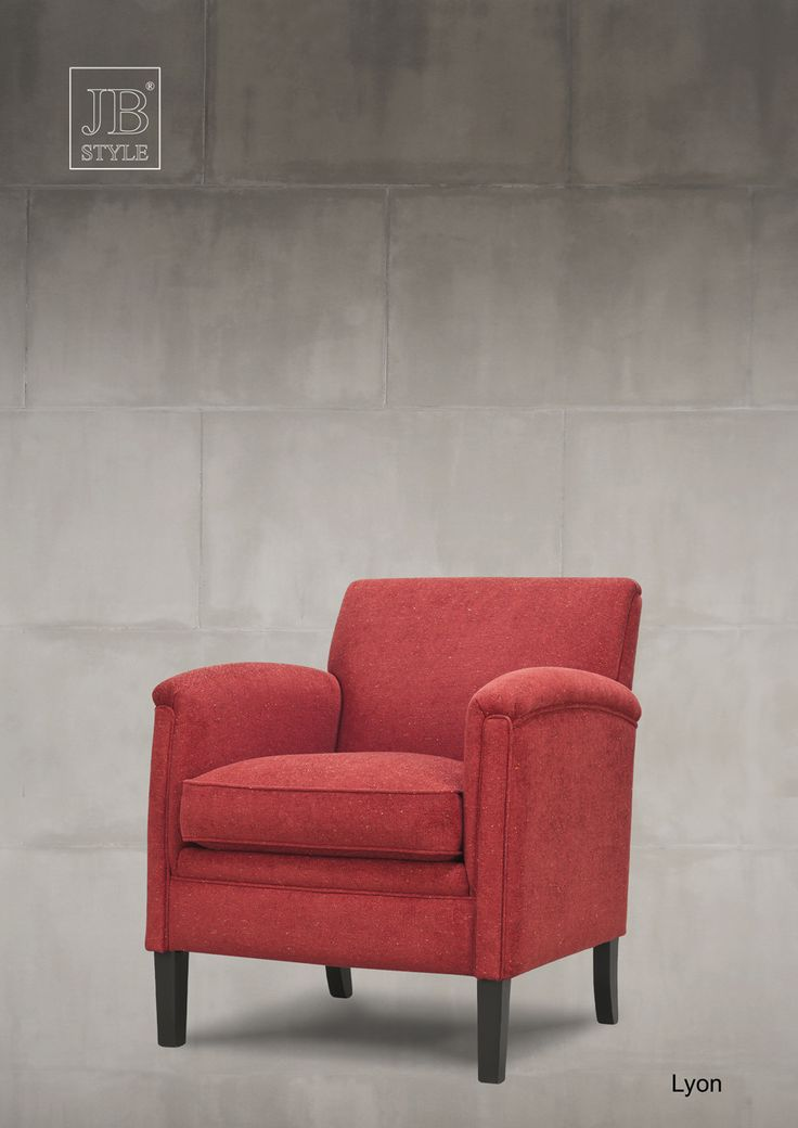 Fauteuil Lyon in rode stof