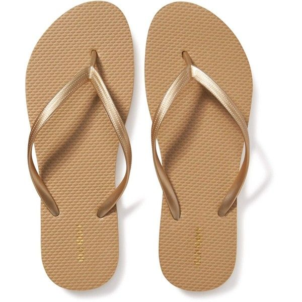 Old Navy Womens Classic Flip Flops ($2.50) ❤ liked on Polyvore featuring shoes, sandals, flip flops, brown shoes, strappy flip flops, strappy shoes, strap shoes and white and black shoes