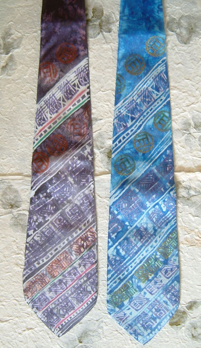 Hand Painted Silk Ties -  #MyFavouriteMakes