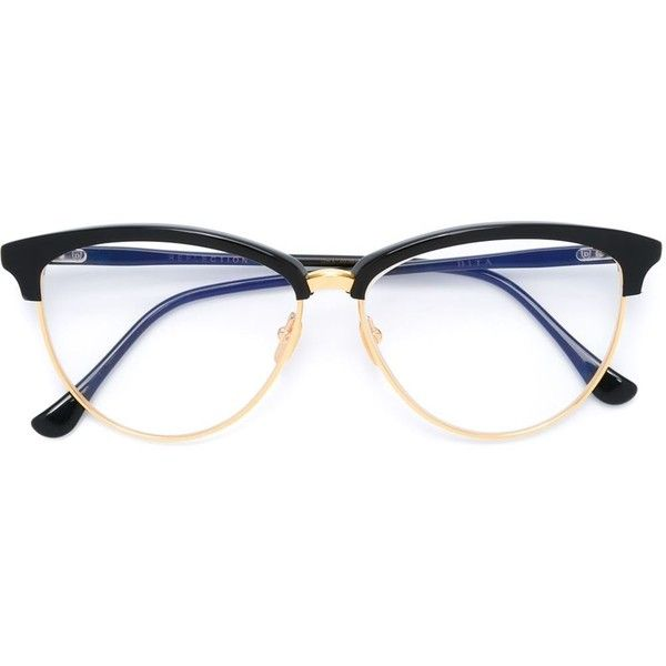 Dita Eyewear cat eye frame glasses ($665) ❤ liked on Polyvore featuring accessories, eyewear, eyeglasses, black, cateye eyeglasses, cat-eye glasses, cat eye eyeglasses, dita eyeglasses and dita glasses