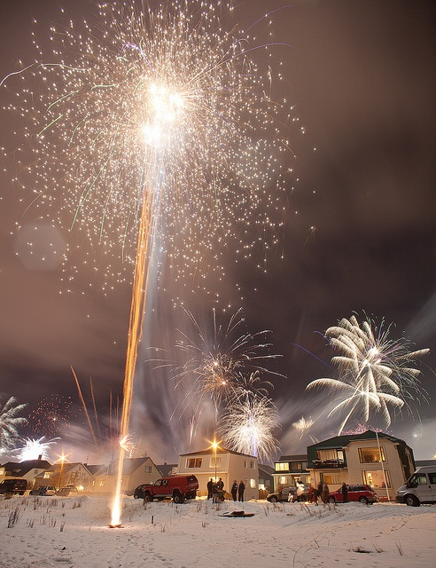 New Year's Eve in Reykjavíik, Iceland. The most peaceful country on earth.