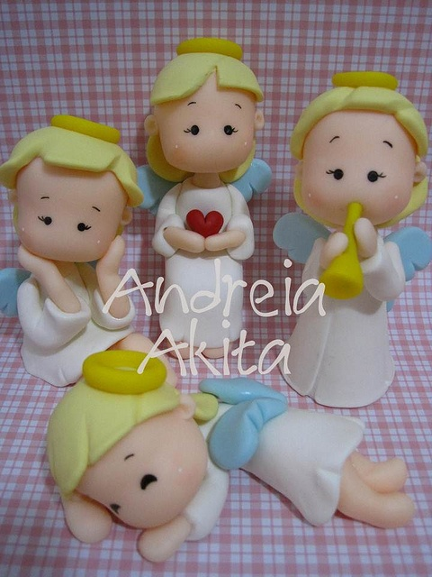 Angels cake topper