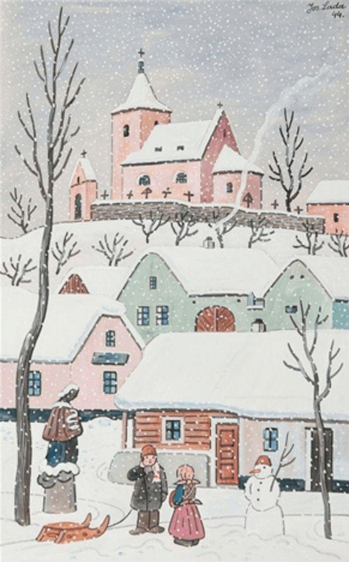 Winter Wonderlands by Josef Lada