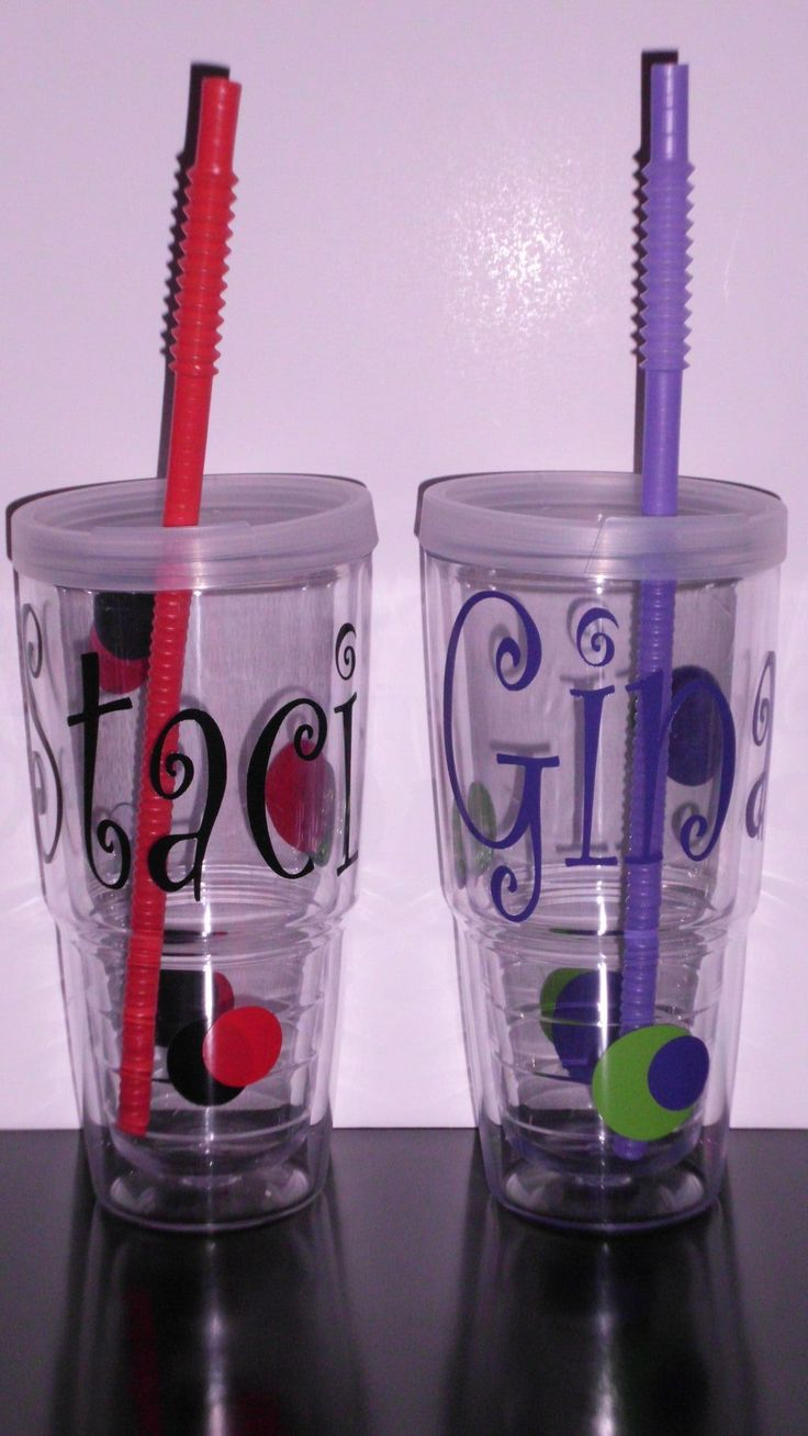 Cups - Cricut I wish my sister in law would make us a few of these!  Maybe my niece?