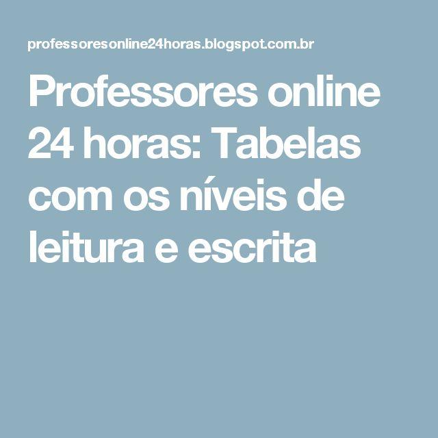 Professores online 24 horas: Tabelas com os níveis de leitura e escrita