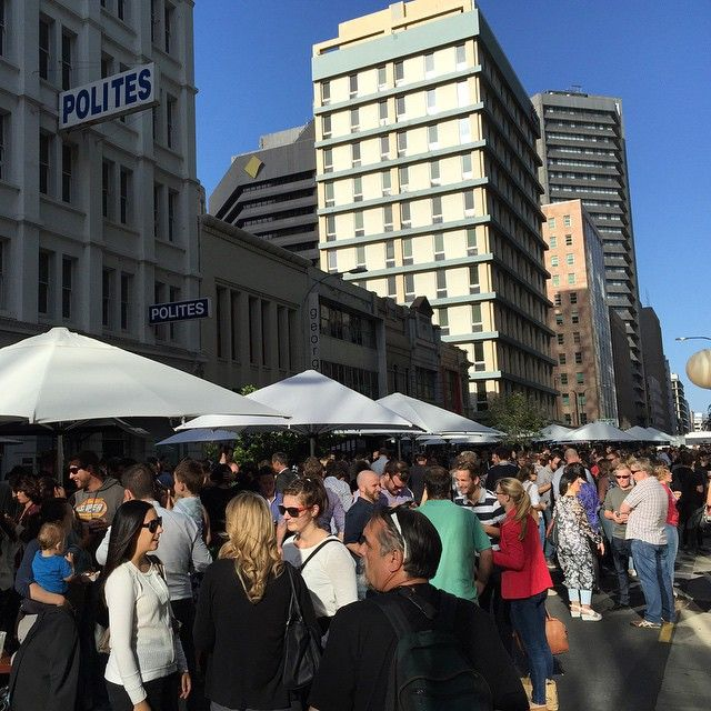 #ShareIG After work  Waymouth St Fringe Party time for some food & drinks #AdelaideFringe2015 #FringeParty #WaymouthStreet #AdelaideCBD