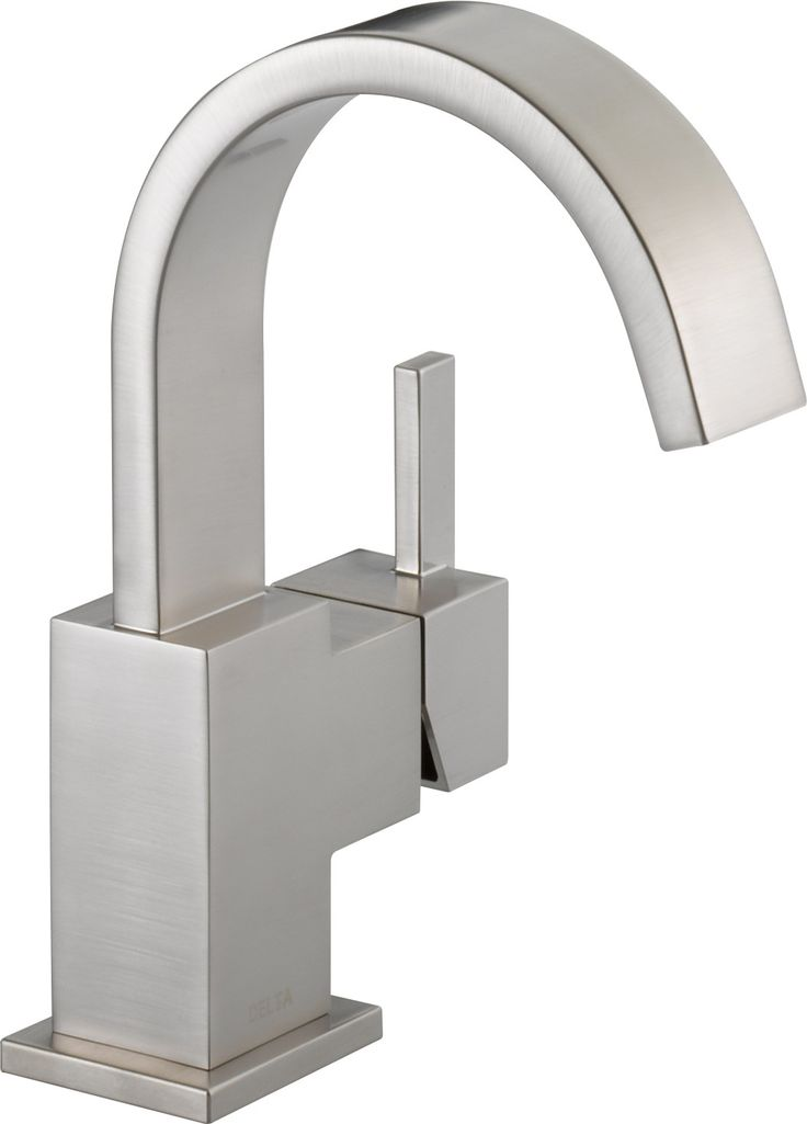 Delta 553LF-SS Vero Single Handle Centerset Bathroom Faucet in StainlessIts sleek and minimalist design are just two reasons the ribbon-inspired Vero Collection is the perfect urban oasis. Getting ready in the morning is far from routine when you are surrounded by a bath that reflects your personal style. Offered in chrome and stainless, the Vero Bath Collection comes with a full suite of coordinating accessories, providing a decorative look throughout the bath.Delta 553LF-SS Vero Single…