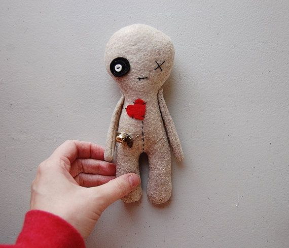 Voodoo Doll, Handmade Doll, Rag Doll, Halloween Decor, Softie Toy, Voodoo Plushie, Halloween Plush Doll