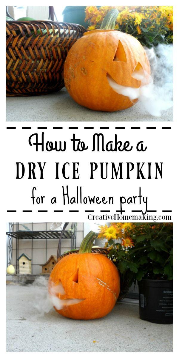 Dry Ice Jack-o-Lantern for Halloween Creative Homemaking