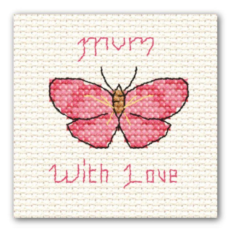 Mini Cross Stitch Mother's Day Butterfly | Hobbycraft