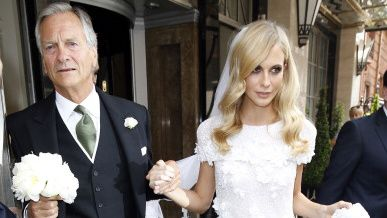 See Poppy Delevingne's Stunning Custom Chanel Wedding Gown (and Cara'sToo!)   StyleCaster