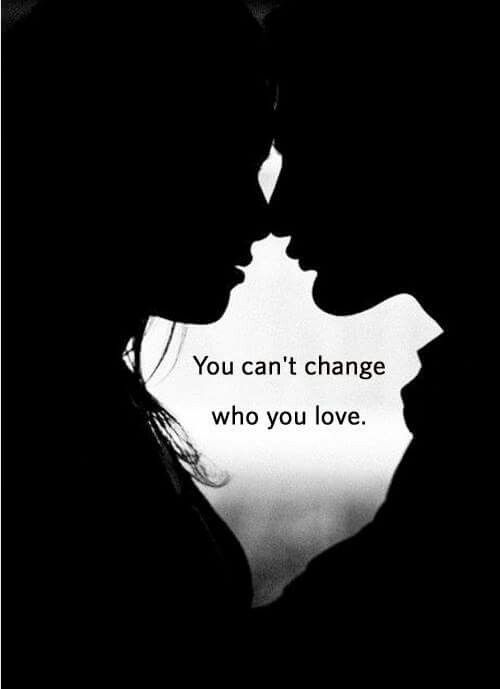 You can't change who you love .