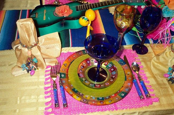 Mexican table settings | mexican flavored cinco de mayo table setting details by candace ...