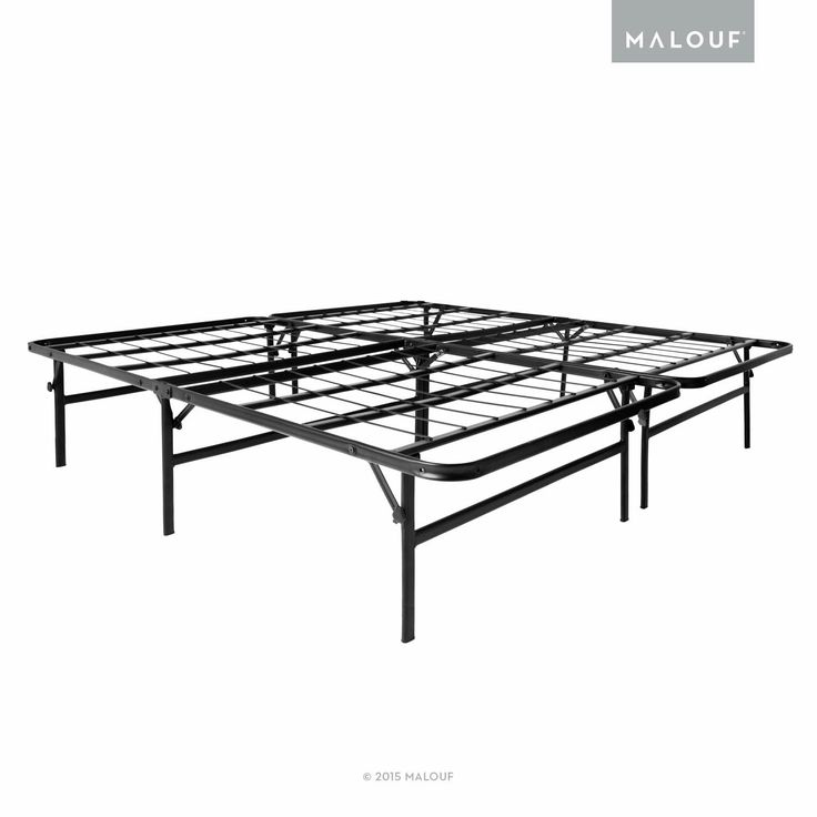 STRUCTURES HIGHRISE LTH 17 Inch Tall Folding Bed Base - High Profile Platform Bed Frame and Box Spring in One - Full