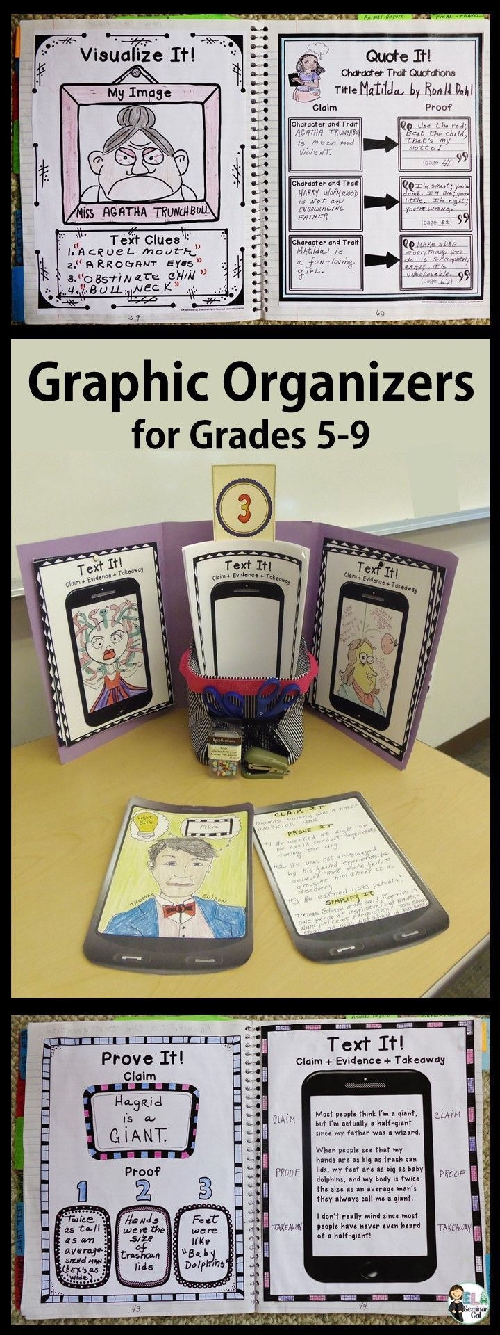 These fun organizers focus on two literacy skills: #1 Key Ideas and Details (e.g. close reading, summarizing) and #2 Integration of Knowledge  (e.g. evaluating claims, extracting evidence). #strugglingreaders ~ Available at TpT.