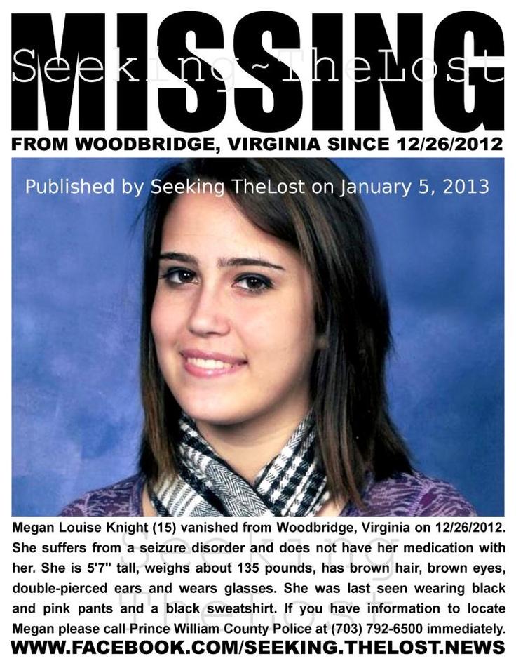 Missing 15 Year Old Girl Found: 1/5/2013: Medical Emergency: Needs Seizure Medication