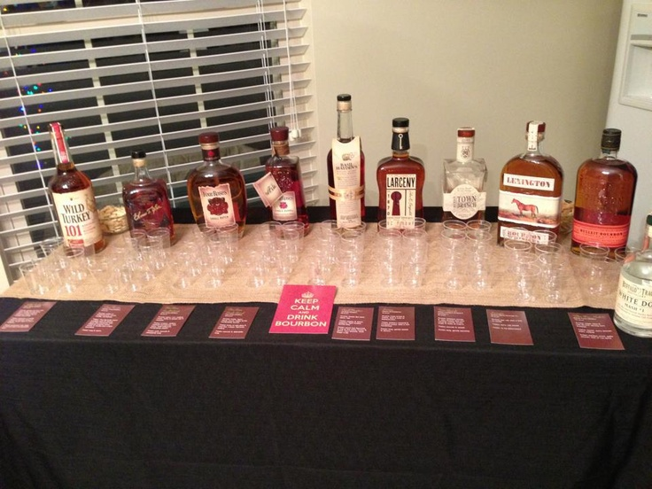 Bourbon Tasting Party Bar Set Up Party Ideas Pinterest