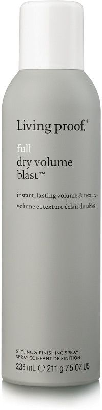 Living Proof Full Dry Volume Blast is the volume and texture spray that's (almost) as light as air and gives big, lasting results. It contains Living Proof's new, patent-pending expandable, textured aero-spheres called ETAS. They're lighter and bigger than industry standard ingredients, so they deliver big volume and texture on your hair without weighing it down.
