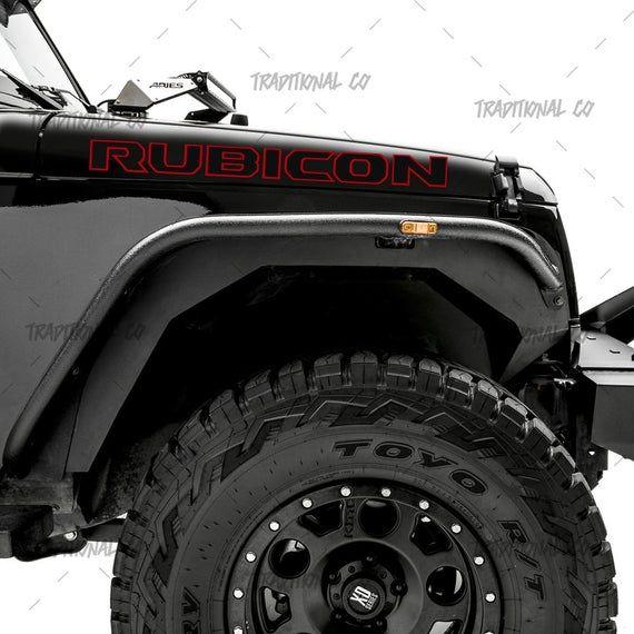 Jeep Wrangler Rubicon Hood Decals Jk Set Of 2 Oem Spec