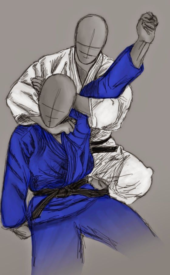"Kata-ha-jime: Single wing choke or The Sleeper.. Apply careful pressure to induce ""sleep"" ;) a little more pressure to induce permanent sleep.. Jk- not really.."