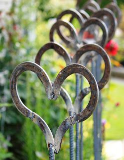 Through the Blue Gate: re-purposed equine footwear, would be great for a wedding path