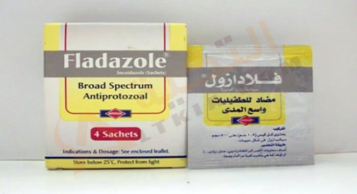 دواء فلادازول Fladazole أقراص لعلاج التهاب المجرى البولي والمهبلي الفلادازول من الأدوية التي تقوم بوظيفتها في التخ Sachet Leaflet Convenience Store Products