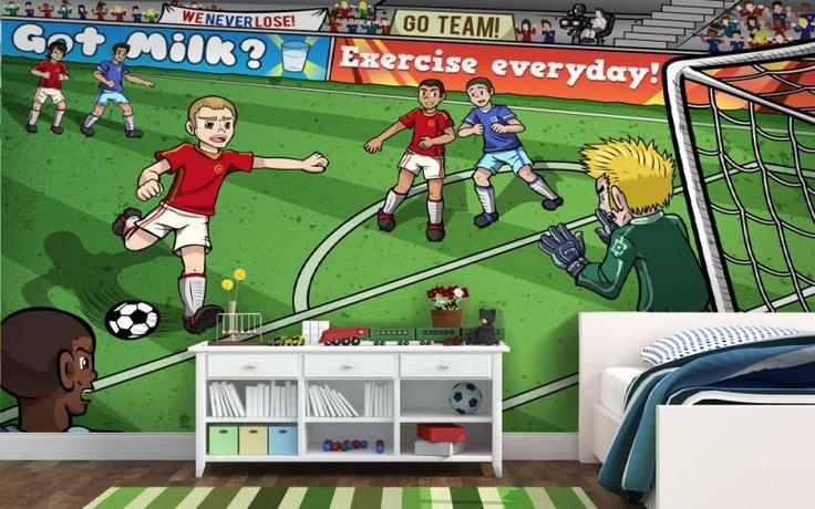 7 best images about boys wallpaper murals on pinterest for Boys mural wallpaper
