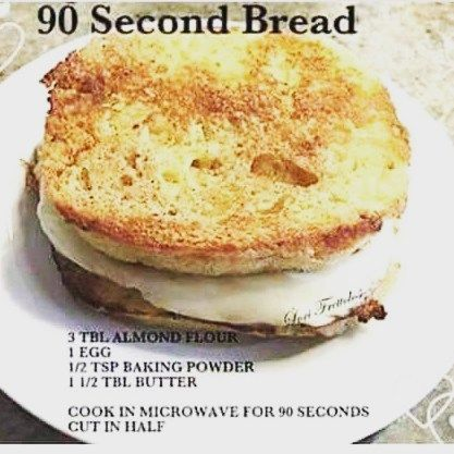 "141 Likes, 39 Comments - Keto_Kimberly (@keto_kimberly) on Instagram: ""Here is the 90 second bread recipe I used yesterday.  I melted the butter first,  then added the…"""