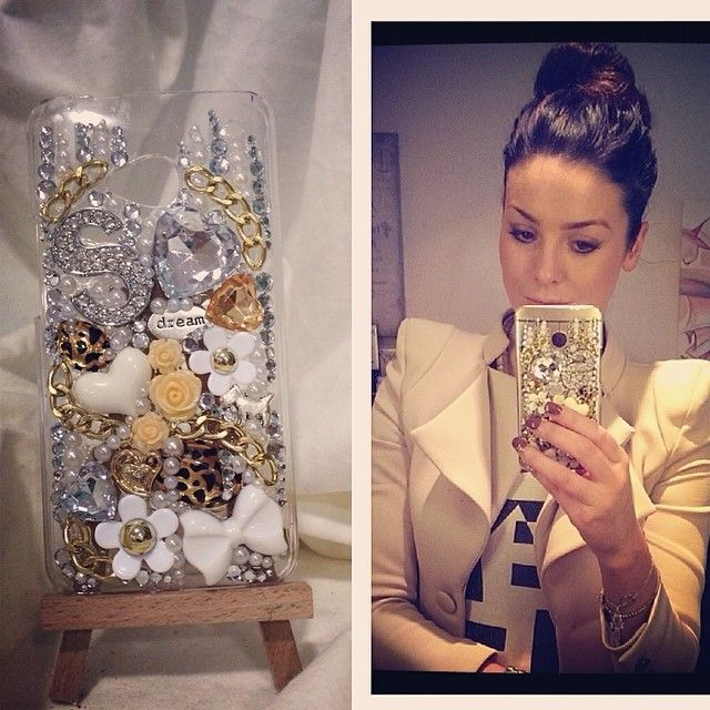 """Gold, gorgeous and glam phone case, created for Suzanne """"So Sue Me"""" Jackson. Available to purchase from www.fibourke.com"""