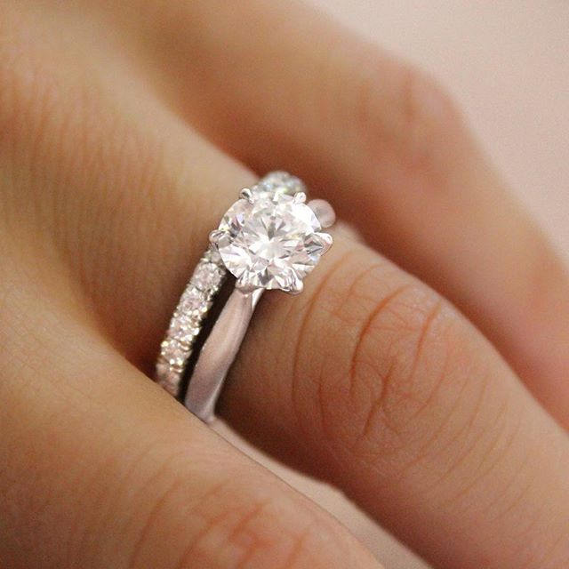 diamond engagement ring pid white style carat gold classic round three total stone rings with baskets g