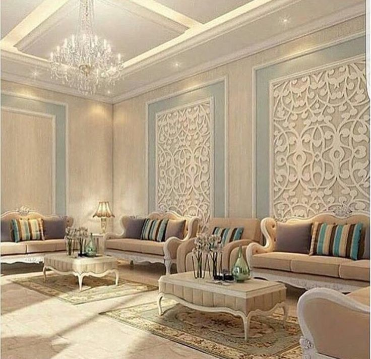 This aould be really good for a formal living room design. The wall relief art gives it a really eclectic feel