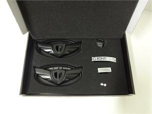 Hyundai Genesis Coupe Wing Emblem Kit - Matte Black (G040)