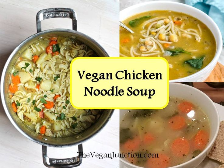 For the warm winter months, stay warm with vegan chicken noodle soup. It has the familiar chunky vegetable and pasta filled texture, with a hearty herb-infused aroma. The only difference is these n…