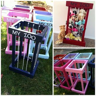 Zoo Cage Toy Box Made From Pallets