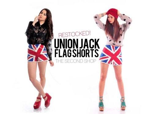 union jack vintage shorts #fashion #shorts