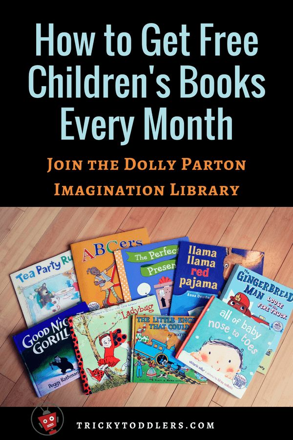 How to get FREE children's books every month! Join the Dolly Parton Imagination Library. trickytoddlers.com