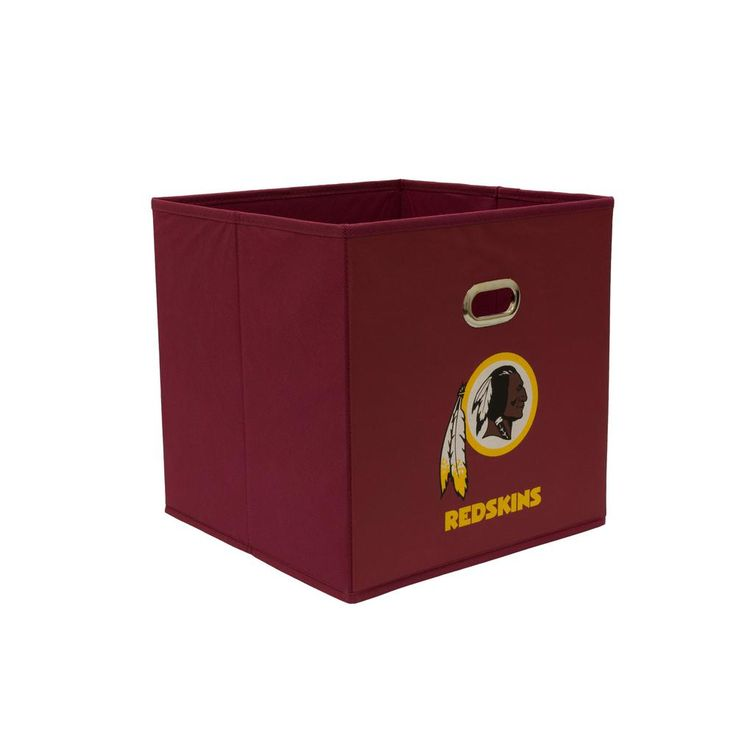 Washington Redskins NFL Store-Its 10-1/2 in. W x 10-1/2 in. H x 11 in. D Garnet Fabric Drawer, Washington Redskins/Red