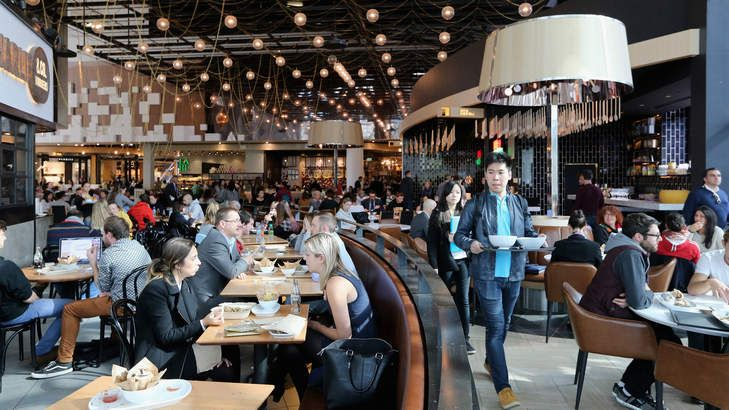 Bargain hunting: The food court on level 3 at Emporium Melbourne.