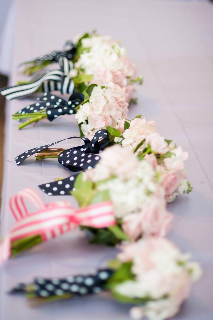 Inspiration for bridesmaid bouquets: Nautical preppie wedding