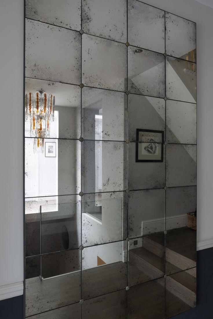 Rough Edges Panelled Lola Frameless Ready to Hang Mirror by Rough Old Glass for Magenta Pink Interiors, London