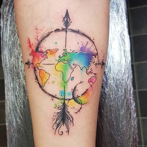 23 inspirierende Pfeil-Tattoo-Ideen für Frauen
