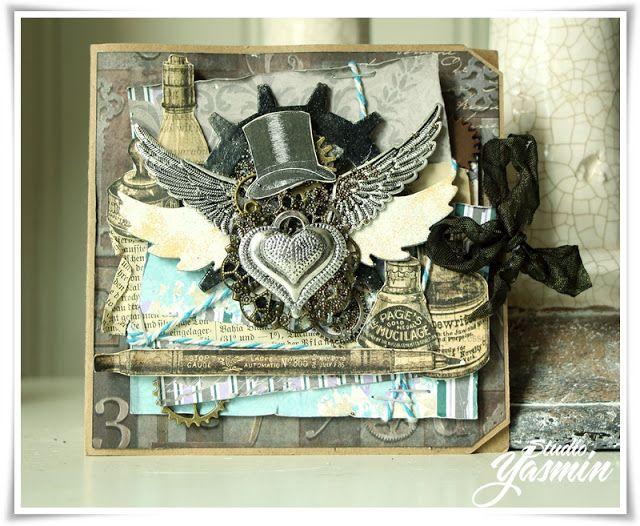 Masculine steampunk Card by me :)