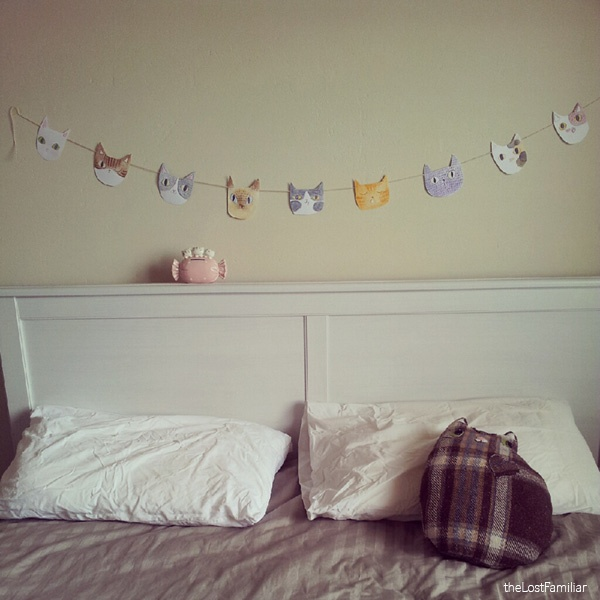 23 Stunningly Beautiful Decor Ideas For The Most: Home-made Kitty Bunting
